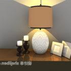 Äggformad bordslampa