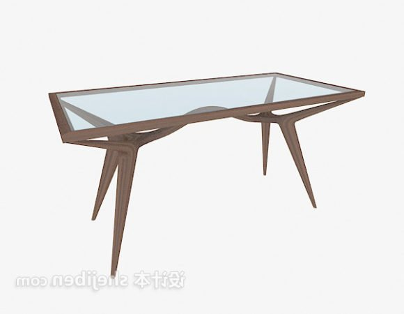 Modern Glass Wooden Coffee Table
