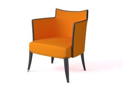 Restaurant Armchair Orange Color
