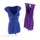 Beauty Women Dress With Blue Purple
