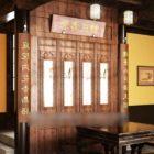 古典的な中国のテーブルと椅子のセット