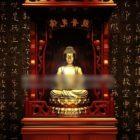 Chinesische Eingangshalle Buddha Kabinett