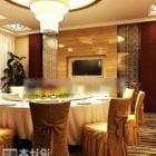 結婚式のレストランのテーブルと椅子のセット