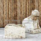 Китайская статуя льва каменная мебель