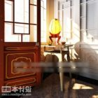 Entrance Hall Cabinet With Lamp Classic Furniture