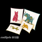 Kissen mit Tierillustration