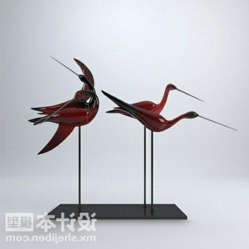 Crane Bird Sculpture Decorating