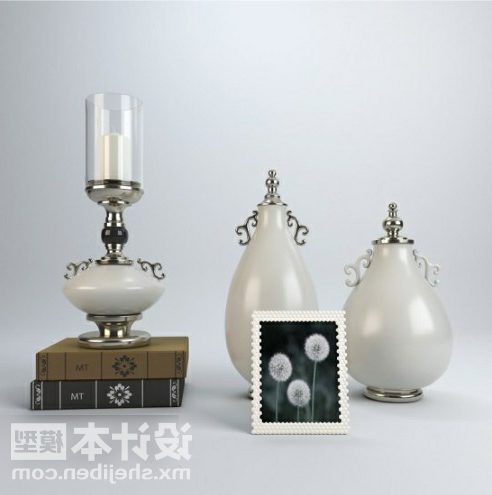 Tableware Luxury Vase With Lamp