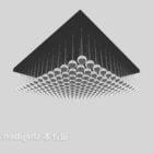 Kwadratowy żyrandol sufitowy z kulą kryształową