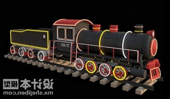 New Year Locomotive Toy Decorating
