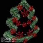 New Year Flat Pin Tree Decorating