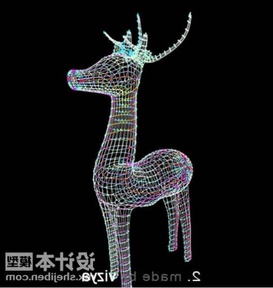 New Year Deer Sculpture Decorating