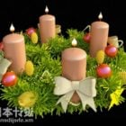 New Year Candles Decorating