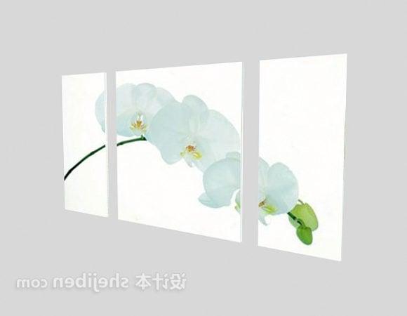 White Flower Decorative Painting