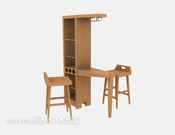 Wine Cabinet With Chair Set