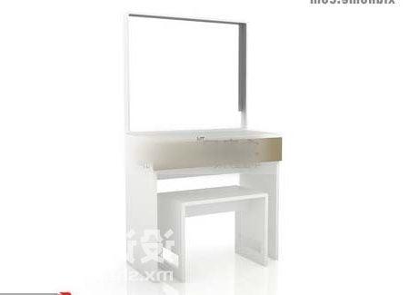 White Dresser Cabinet With Mirror