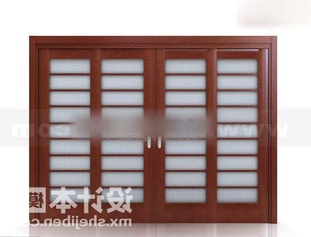 Wood Door With Louvers
