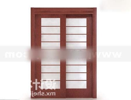 Sliding Wood Door With Louvers