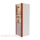 Red Refrigerator Three Doors