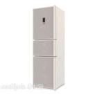White Refrigerator Three Doors