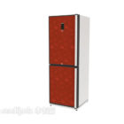Red Refrigerator Two Doors