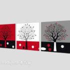 Silhouette Tree Painting V1