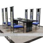 ダイニングテーブルとハイバックチェア家具セット