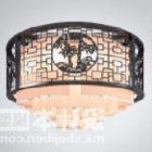 Kinesisk fasad för snidning av takljus