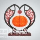 Chinese Table Lamp Fish Shaped Furniture