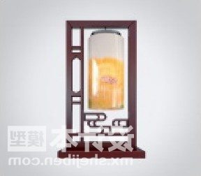 Chinese Floor Lamp Furniture With Cylinder Shade