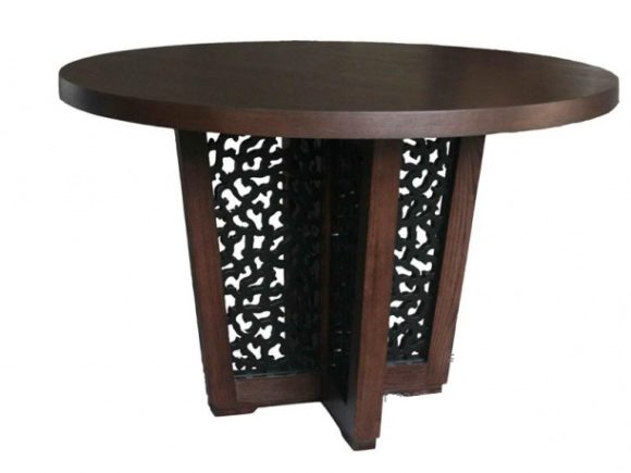 Chinese Round Table Brown Wood Furniture
