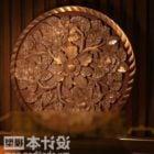 Ozdoba drewniana rzeźba w kształcie liścia