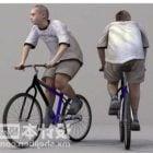 Teenager On Bicycle