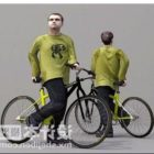 Bicycle Man Lowpoly Character