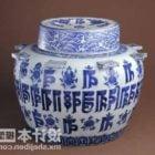 Vintage Porcelain Vase Chinese Furniture