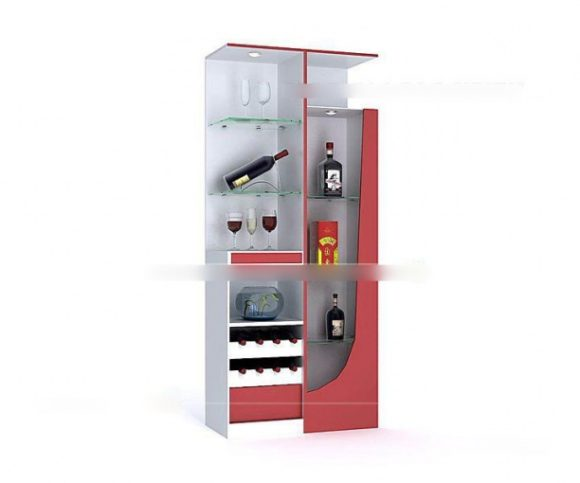 Red Wine Cabinet Furniture