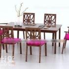 中国のダイニングテーブルと椅子のセット