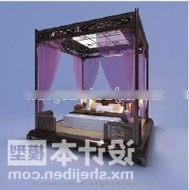Classic Chinese Poster Bed