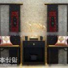 中国家具コーナーテーブルと椅子セット