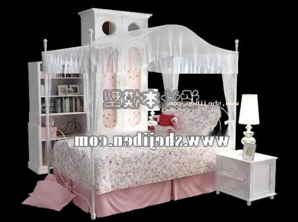 Children Girl Bed Furniture Set