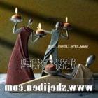 Stylized Figurine Candle Holder