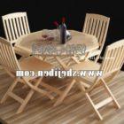 Utomhusbord och stol Wood Decker