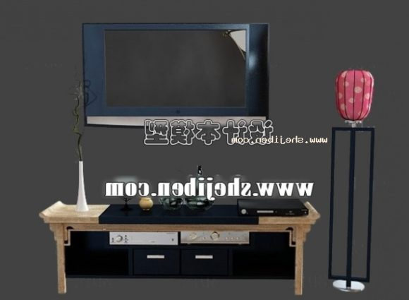 Wood Cabinet With Television