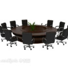 Circular Conference Table With Chair