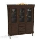 Vintage Wood Wine Cabinet Furniture