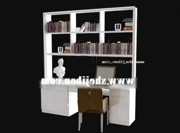 Bookcase Workspace Wood Furniture