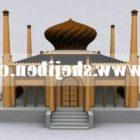 Chiński budynek starożytnej świątyni