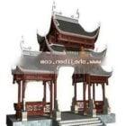 Starożytna Brama Chiński Budynek