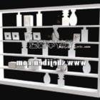 Bücherregalschrank mit Dekoration