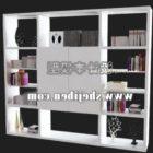 Weiße Bücherregal-Schrankmöbel
